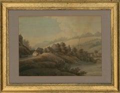 Late 18th Century Watercolour - Rural Village