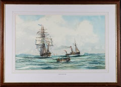 Peter Whittock - Signed Mid 20th Century Watercolour, Hove To For A Tow