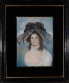 American c.1790 Pastel - Elizabeth Rogers (1751-1810)