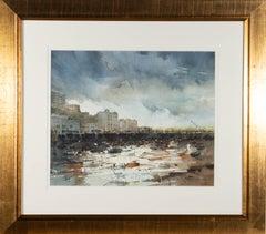 David Norman - Signed Mid 20th Century Watercolour, Harbour Scene
