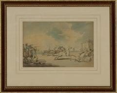 Atrrib. Thomas Rowlandson (1757–1827) - c. 1798 Watercolour, The Start