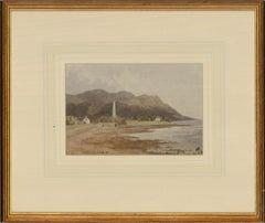 Attrib. John Faulkner (1835-1894) - Watercolour, The Mourne Mountains