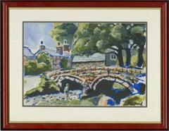 Contemporary Gouache - Redford Humpback Bridge