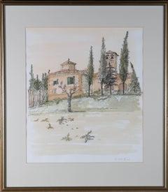 Richard Beer (1928-2017) - Contemporary Watercolour, Italian Countryside Scene