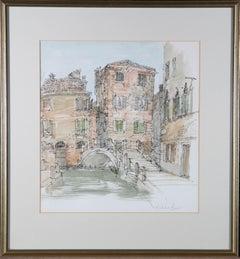 Richard Beer (1928-2017) - 20th Century Watercolour, Venetian Scene