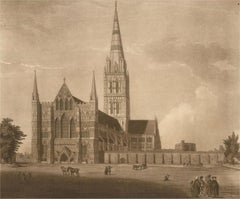 Green and Jukes after Samuel Grimm - 1779 Engraving, Salisbury Cathedral