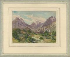 1859 Watercolour - Maloja Mountain Pass