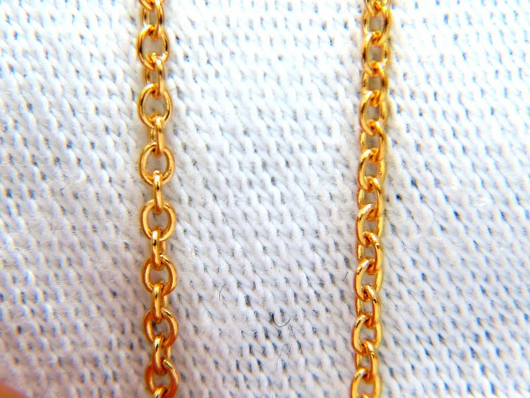 Round Cut 2.26 Carat Natural Multi-Color Sapphires Diamond Cluster Necklace 14 Karat For Sale