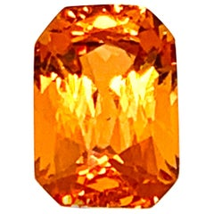 2.26 Carat Spessartite Garnet Octagon, Loose 3-Stone Ring or Pendant Gemstone