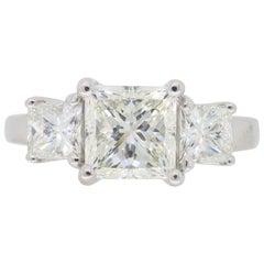 2.26 Carat Three-Stone Diamond Engagement Ring