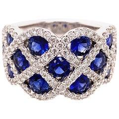 2.27 Carat Sapphire Diamond Ring