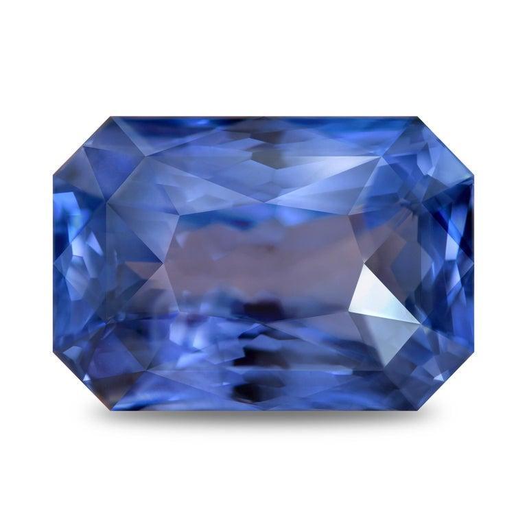 Modern 22.77 Carat Natural Sri Lankan Blue Sapphire Octagon Shape For Sale