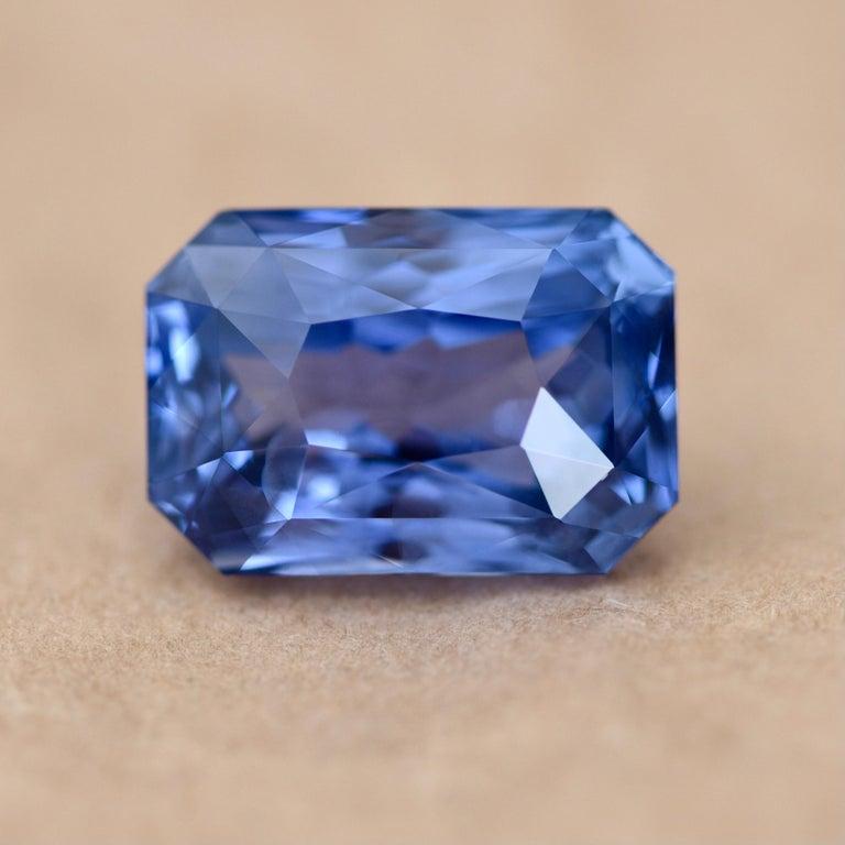Octagon Cut 22.77 Carat Natural Sri Lankan Blue Sapphire Octagon Shape For Sale