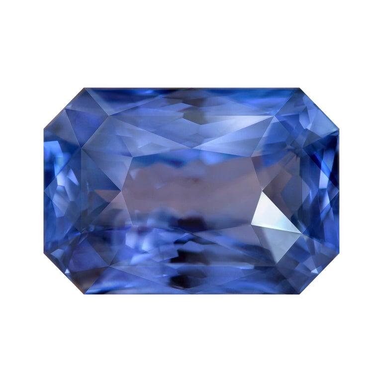 22.77 Carat Natural Sri Lankan Blue Sapphire Octagon Shape For Sale