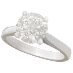 2.29 Carat Diamond and Platinum Solitaire Engagement Ring