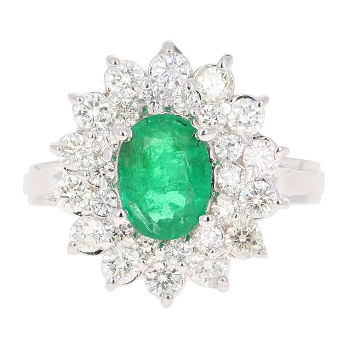 2.29 Carat Emerald Diamond 18 Karat White Gold Engagement Ring GIA Certified
