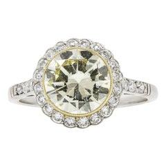 2.29 Carat Round Brilliant Diamond Platinum Engagement Ring