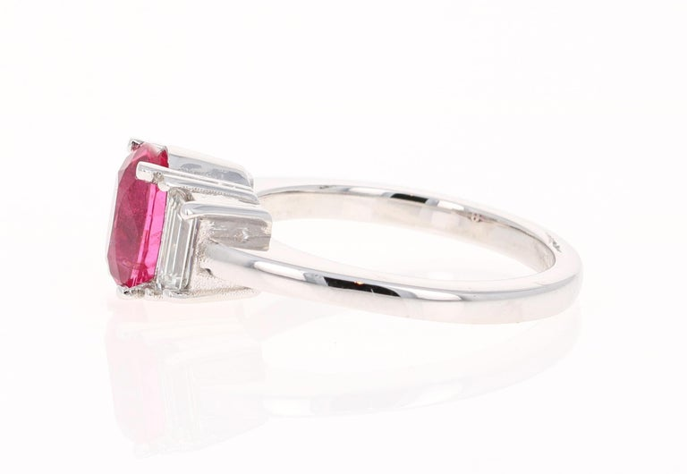 Modern 2.29 Carat Spinel Diamond 18 Karat White Gold Engagement Ring For Sale