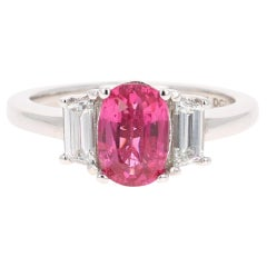 2.29 Carat Spinel Diamond 18 Karat White Gold Engagement Ring