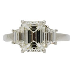 2.29 Carat Three-Stone Platinum Diamond
