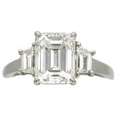 2.29 Carat Three-Stone Platinum Diamond