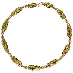 22 Carat Gold Nuggets Necklace by Jean Mahie