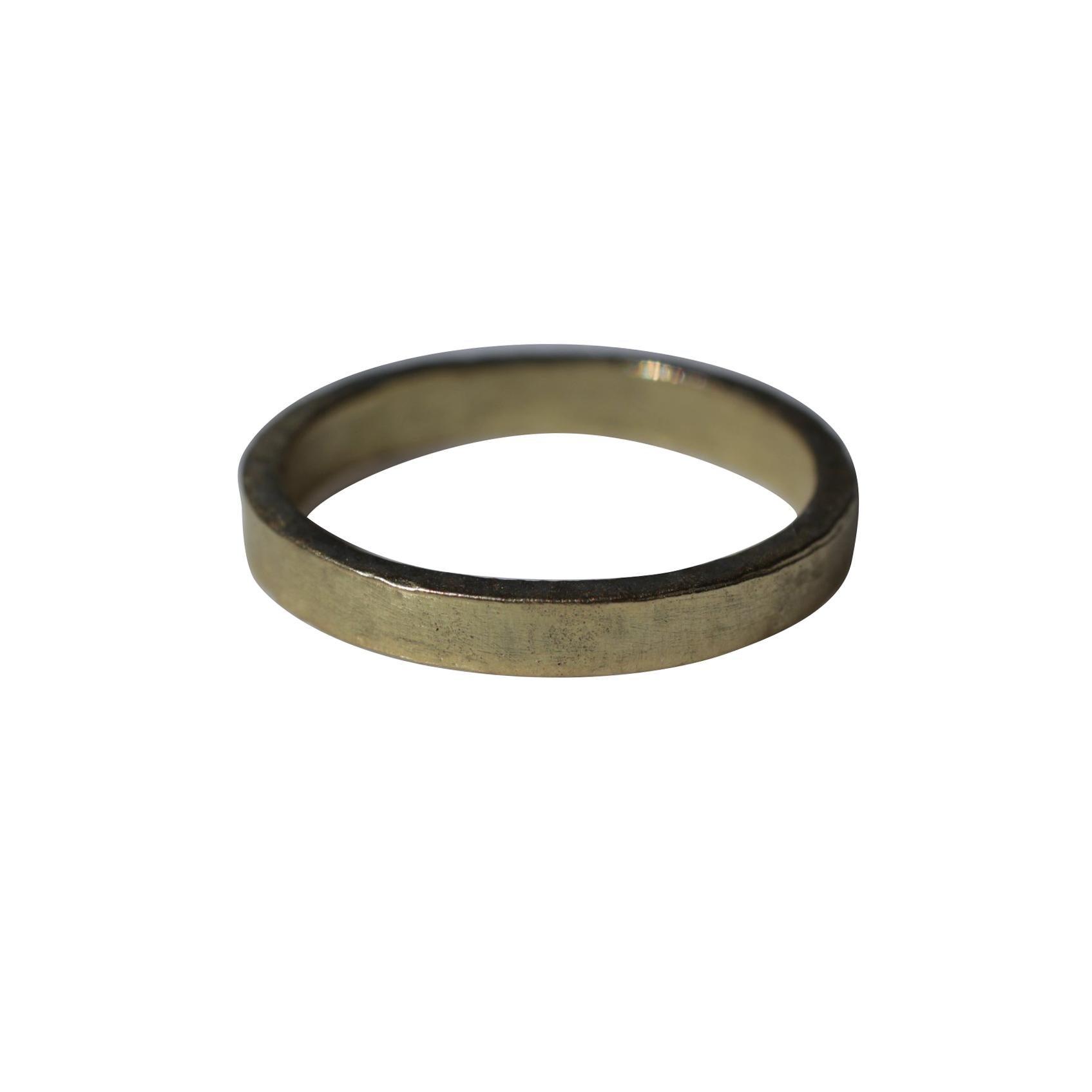 22K Gold Bridal Wedding Band Ring Modern Stacking Ring Design