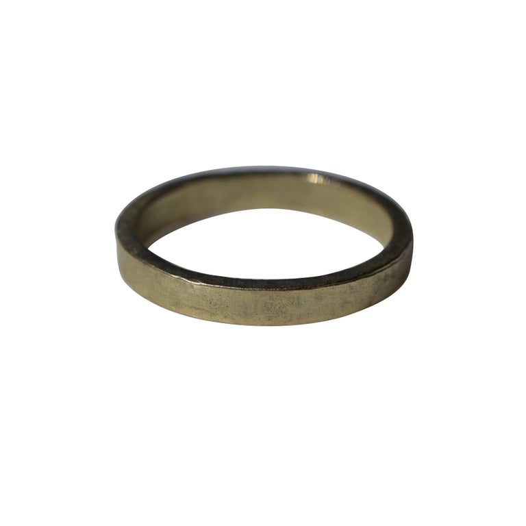 22k Gold Bridal Wedding Band Ring Wide Band Modern Stacking Ring  For Sale