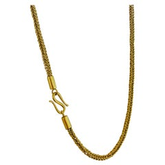22k Gold Hand Woven Chain by Tagili Designs
