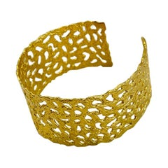 22k Gold Organic Finish Cuff by Tagili Designs