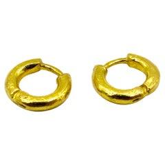 22k Gold RIMA JEWELS Small Hoops
