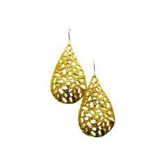 22k Gold Teardrop Earrings