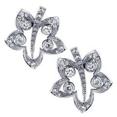 2.3 Carat Diamond Flower Earrings