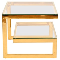 23 Carat Gold Plated Belgo Chrome Table
