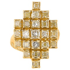 2.3 Carat Yellow Diamond Ring in 18 Karat Yellow Gold