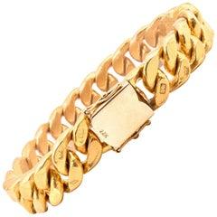 23 Karat Yellow Gold Cuban Link Bracelet