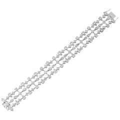 23.0 Carat Diamond 18 Karat White Gold Bracelet