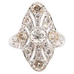 2.30 Carat Round Brilliant Cut Diamond 18 White Carat Gold Cluster Ring