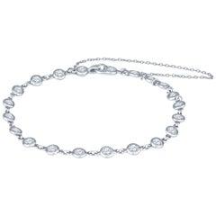 2.30 Carat Tiffany & Co. Diamonds by the Yard Bracelet by Elsa Peretti