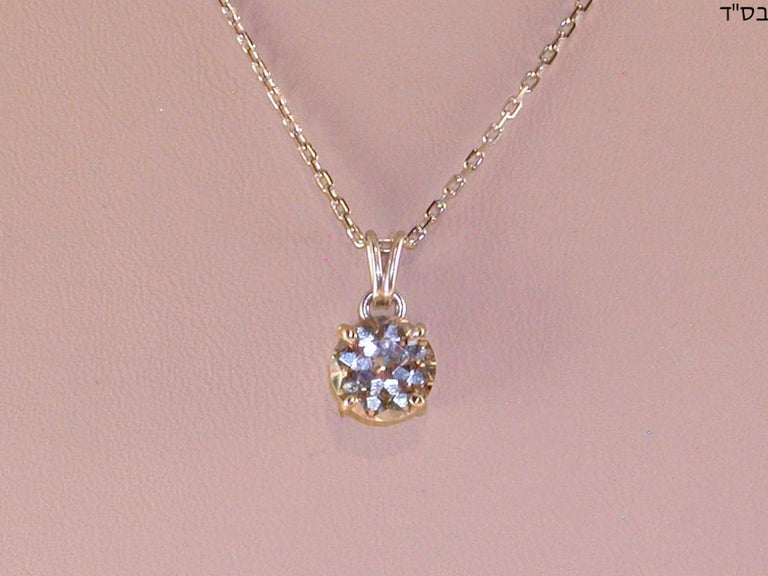 2.32 Carat White Gold Necklace Diamond Solitaire Pendant For Sale 1