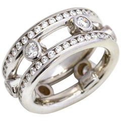 2.33 Carat 18 Karat White Gold Diamond Eternity Band Ring