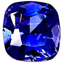 2.33 Carat Cushion Cut Benitoite with GIA Report