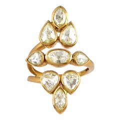 2.33 Carat Rosecut Diamond Mughal Ring