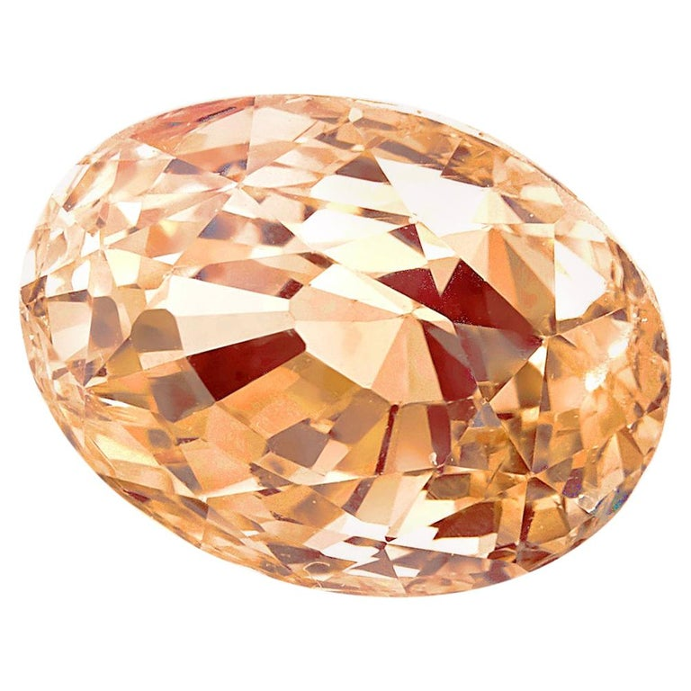 2.34 Carat Oval Yellow-Orange Sapphire, GIA Certificate For Sale