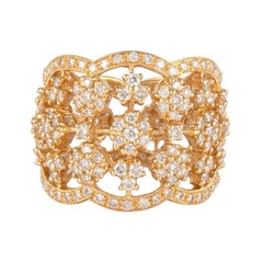 2.35 Carat Diamond and 18 Karat Yellow Gold Cocktail Ring
