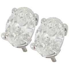 2.35 Carat Diamond and White Gold Stud Earrings