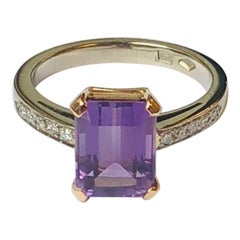 2.35 Carat Amethyst Diamond Cocktail Ring