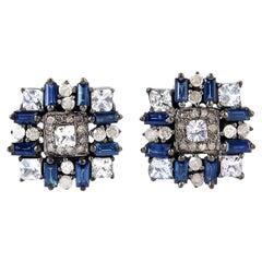 2.36 Carat Sapphire Diamond Baguette Cufflinks