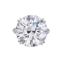 23.69 Carat I SI2 Round GIA Certified Diamond Engagement Ring