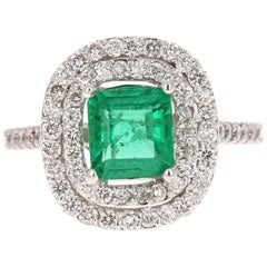 2.37 Carat Emerald Diamond 18 Karat White Gold Engagement GIA Certified Ring